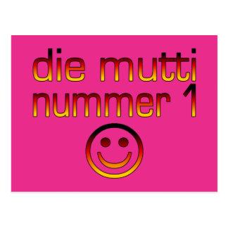Die Mutti Nummer 1 (Mamma der Nr.-1 auf Deutsch) Postkarte
