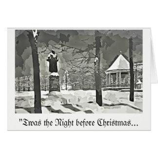 Die Nacht vor Weihnachtsgrußkarte b&w vntge Karte