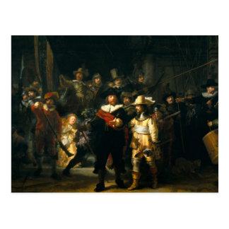 Die Nachtwache - Rembrandt Postkarte