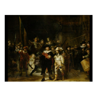 Die Nachtwache, Rembrandt Van Rijn Postkarte