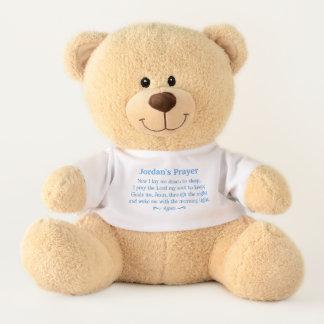 Die Nachtzeit-Gebets-Teddybär des Kindes Teddy