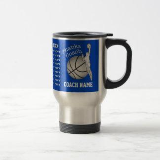 Die Namen-Basketball-Trainer-Geschenke des Edelstahl Thermotasse