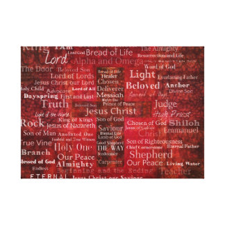 Die Namen des Jesus Christus von der Bibel KUNST Leinwanddruck