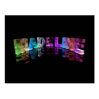 Die Namensmadeline in 3D beleuchtet (Fotografie) Postkarte