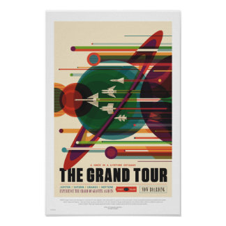 Die NASA - Der großartige Ausflug - Retro Poster