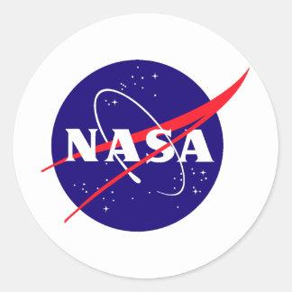 Die NASA-Fleischklöschen-Logo Runder Sticker
