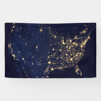 Die NASA-Lichter vom Raum USA Banner