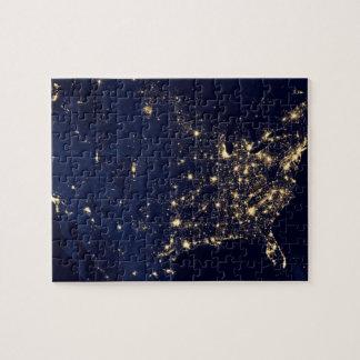 Die NASA-Lichter vom Raum USA Puzzle