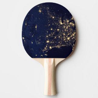 Die NASA-Lichter vom Raum USA Tischtennis Schläger