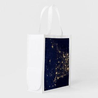Die NASA-Lichter vom Raum USA Wiederverwendbare Einkaufstasche