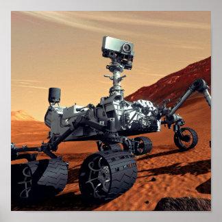 Die NASA-Mars-Neugier-Vagabund-Künstler-Konzept Poster