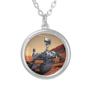 Die NASA-Mars-Neugier-Vagabund-Künstler-Konzept Versilberte Kette