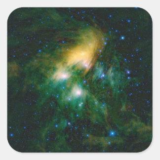 Die NASA Pleiades Quadratischer Aufkleber