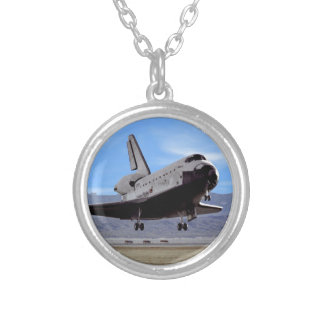 Die NASA-Raumfähre Atlantis, das Edwards AFB Versilberte Kette
