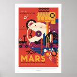 Die NASA - Retro Mars-Ausflug-Reise-Plakat Poster