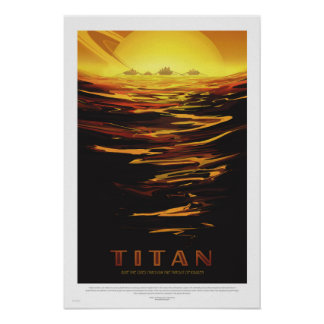 Die NASA - Retro Titan-Ausflug-Reise-Plakat Poster