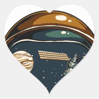 die NASA-Satelitte und der Mond Herz-Aufkleber
