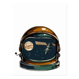 die NASA-Satelitte und der Mond Postkarte
