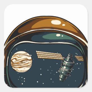 die NASA-Satelitte und der Mond Quadratischer Aufkleber