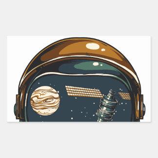 die NASA-Satelitte und der Mond Rechteckiger Aufkleber