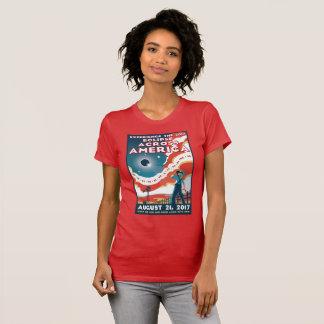 Die NASA-Sonnenfinsternis-Amerika-T-Shirt T-Shirt