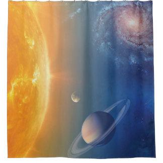 Die NASA-Sonnensystem-Weltraum-Collage Duschvorhang