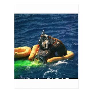 Die NASA Zwilling-Titan 11 Erholung Postkarte