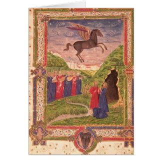 Die neun Musen, die Instrumente spielen Karte