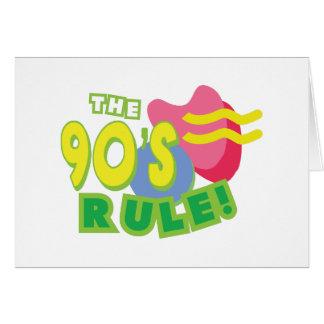 Die Neunzigerjahre Regel Karte