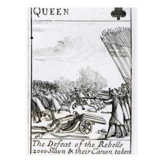 Die Niederlage der Rebellen am Kampf von Postkarte