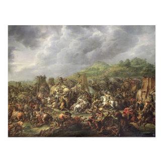 Die Niederlage von Porus durch Alexander der Große Postkarte
