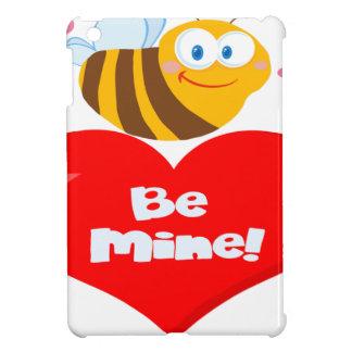 Die niedliche Biene, die Herz-Sprichwort hält, ist iPad Mini Hülle