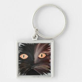 Die niedliche Katze Schlüsselanhänger