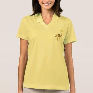 Die Nike-Pikee-Polo-Shirt der Giraffen-gelben Polo Shirt