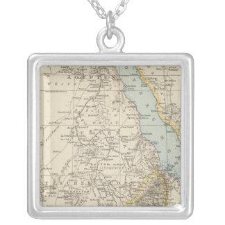 Die Nillander - Atlas-Karte des Nils Halskette Mit Quadratischem Anhänger