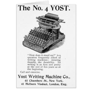 Die Nr. 4- Yost Schreibens-Maschine Karte