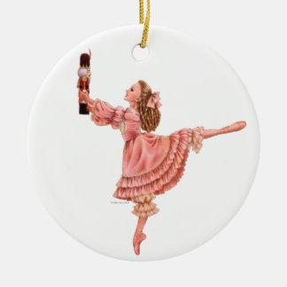 Die Nussknacker-Ballett-runde Verzierung Keramik Ornament