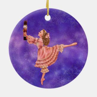 Die Nussknacker-Ballett-Verzierung Rundes Keramik Ornament