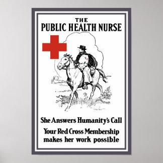 Die öffentliches Gesundheitswesen-Krankenschwester Poster