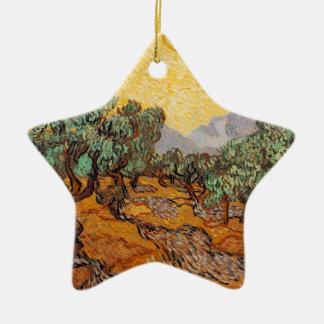 Die ölbäume von Vincent van Gogh (treesoliven) Keramik Ornament