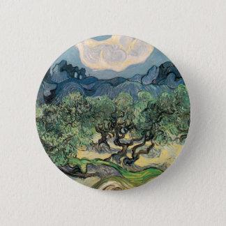 Die Olivenbäume, Vincent van Gogh Runder Button 5,7 Cm