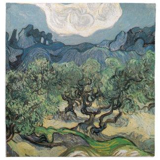 Die Olivenbäume, Vincent van Gogh Serviette