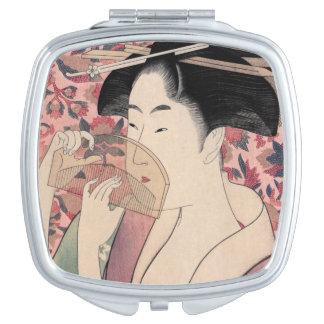 Die orientalische Schönheit, Kushi durch Kitagawa Taschenspiegel
