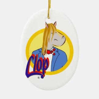 Die ovale Dekoration von Clop. Unterschiedlich und Keramik Ornament
