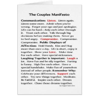 Die Paar-Manifest-Mitteilungskarten Karte