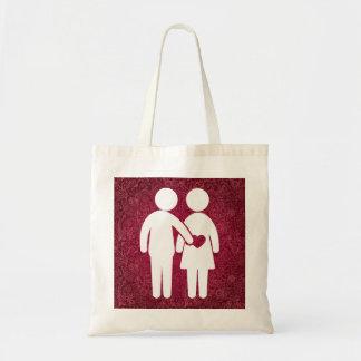 Die Paare bitten minimal Budget Stoffbeutel