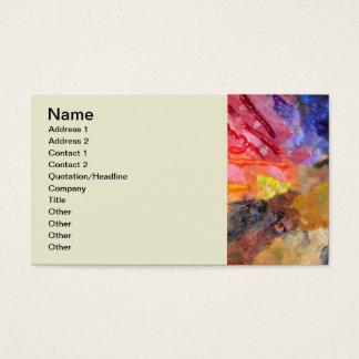 Die Palette des bunten Malers Visitenkarte