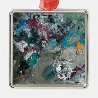 Die Palette des Malers Silbernes Ornament
