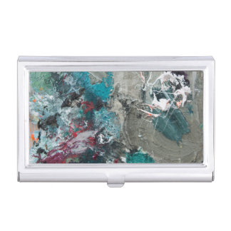 Die Palette des Malers Visitenkarten Etui