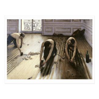 Die Parkett-Hobel, 1875 Postkarte